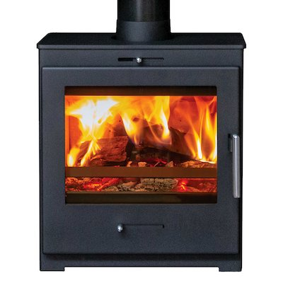 Pevex Bohemia X60 Cube Multifuel Stove Black Solid Sides
