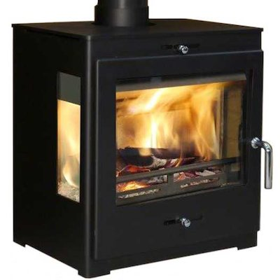 Pevex Bohemia X60 Cube Multifuel Stove Black Side Glass Windows