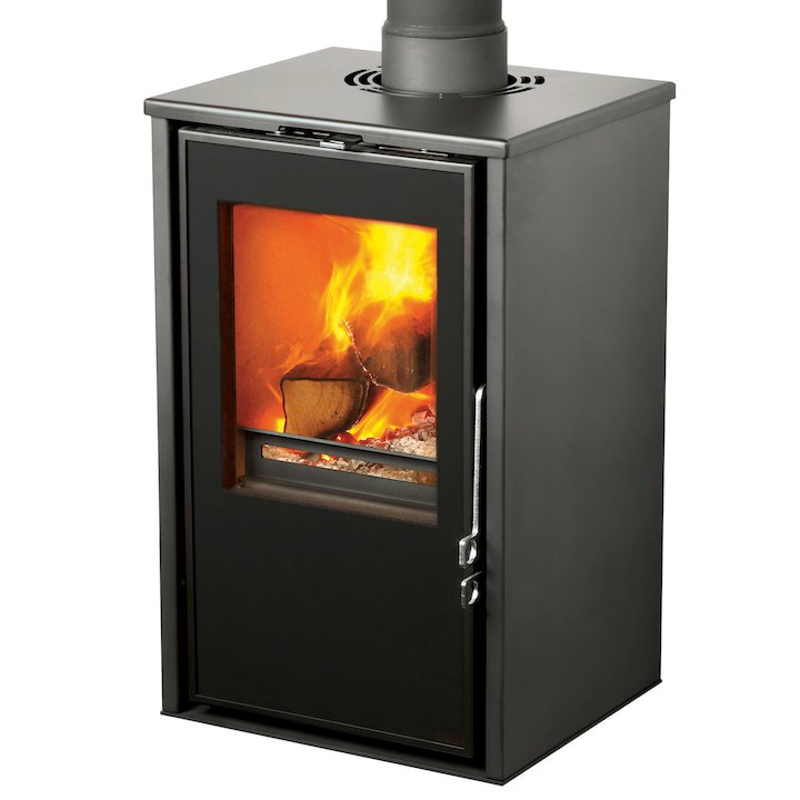 Pevex Serenity 40 Logstore Multifuel Stove Black Logstore with Door - Black