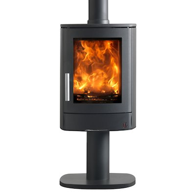 ACR Neo Pedestal Multifuel Stove Black Solid Sides