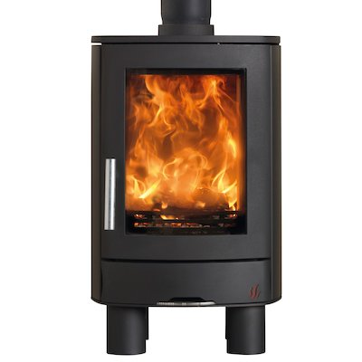 ACR Neo Multifuel Stove Black Solid Sides