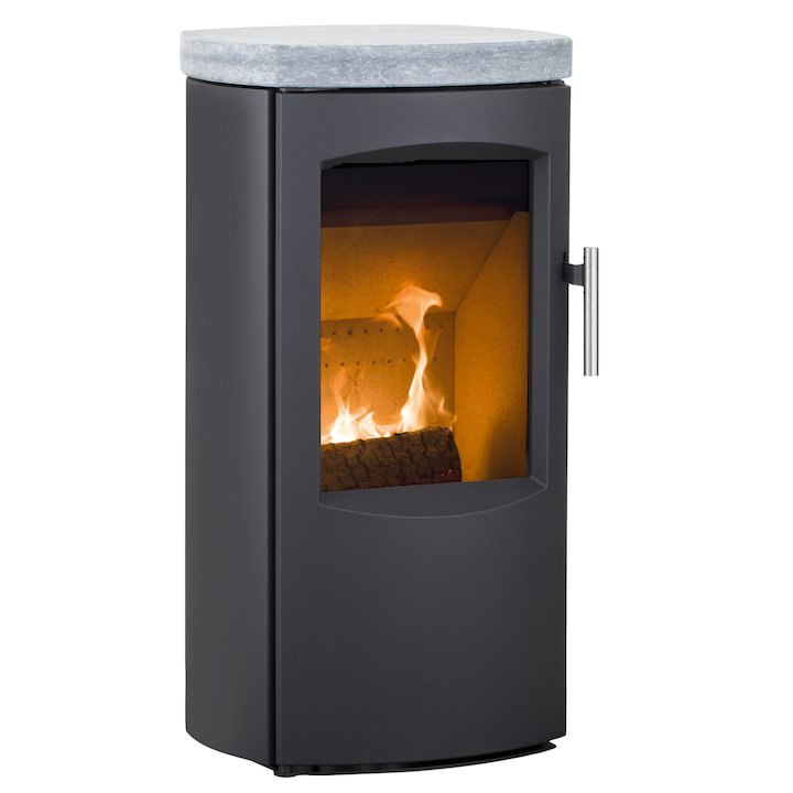 Heta Scanline 7B Multifuel Stove Black Soapstone Top Plate - Black