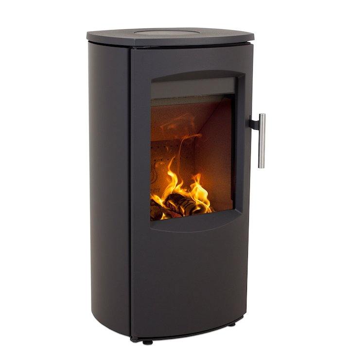Heta Scanline 7B Multifuel Stove Black Steel Top Plate - Black