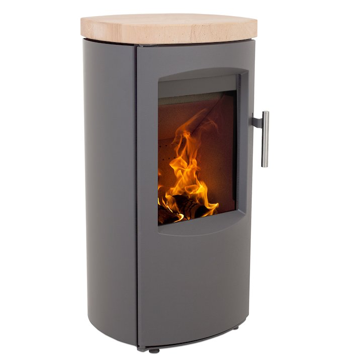 Heta Scanline 7B Multifuel Stove Grey Sandstone Top Plate - Grey