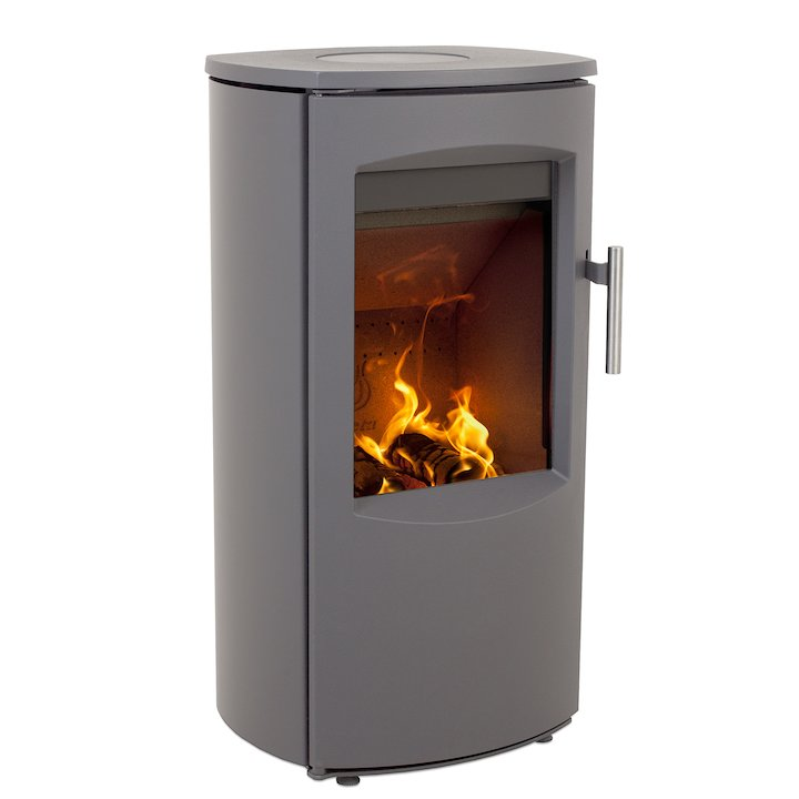 Heta Scanline 7B Multifuel Stove Grey Steel Top Plate - Grey