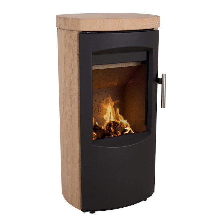 Heta Scanline 7B Multifuel Stove Yellow Sandstone Black Trim - Yellow Sandstone
