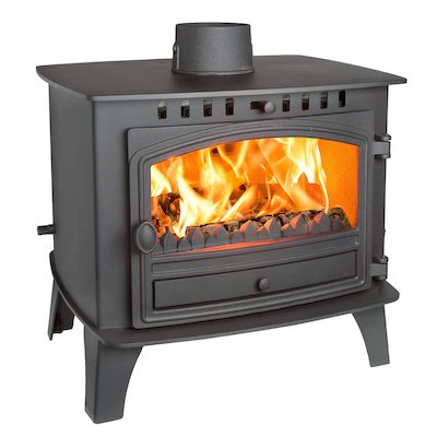 Hunter Herald 14 Double Sided FT Multifuel Stove Black Single Door