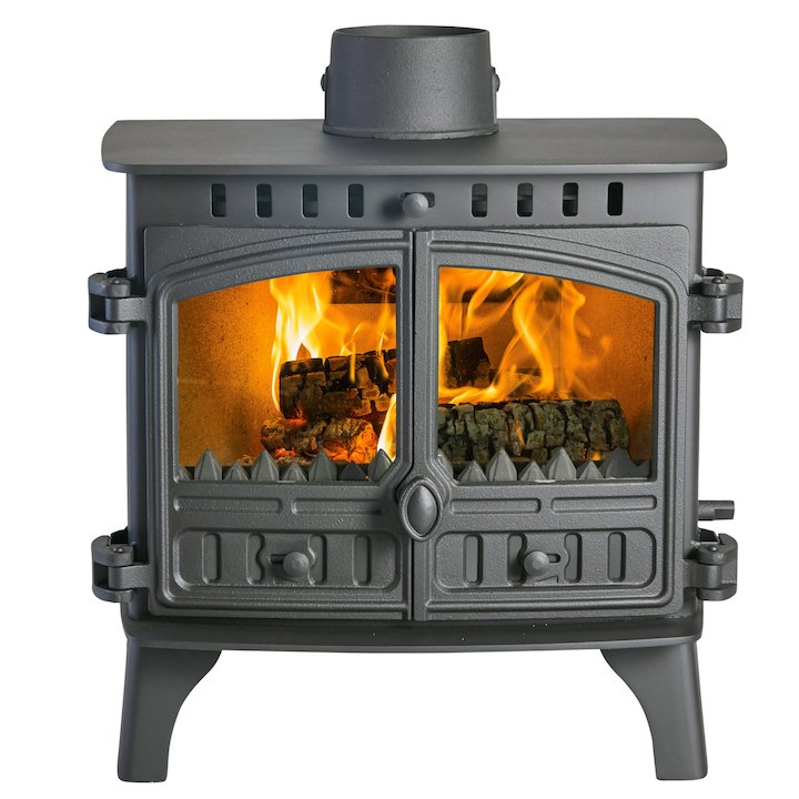 Hunter Herald 8 Double Sided FT Multifuel Stove - Double Depth