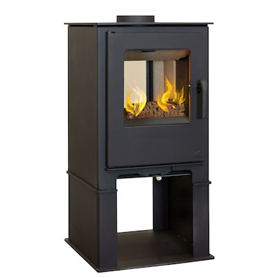 Mendip Loxton 8 Logstore Double Sided Multifuel Stove