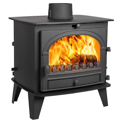 Parkray Consort 9 Double Sided Multifuel Stove Black Single Door