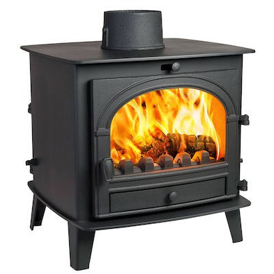 Parkray Consort 7 Double Sided Multifuel Stove Black Single Door