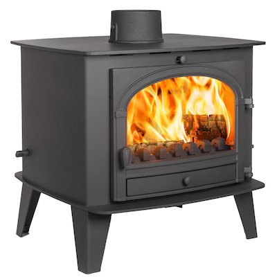 Parkray Consort 15 Double Sided Multifuel Stove Black Single Door