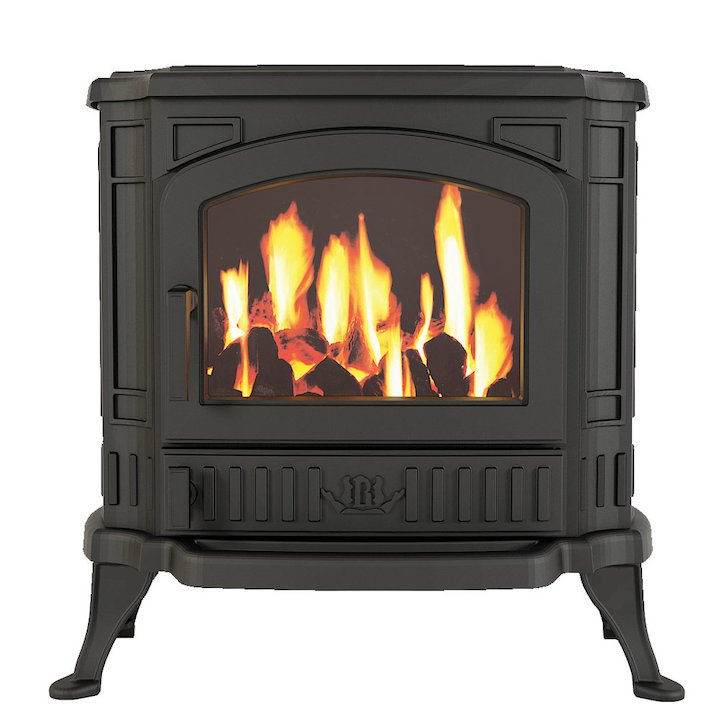 Broseley Winchester Conventional Flue Gas Stove - Black