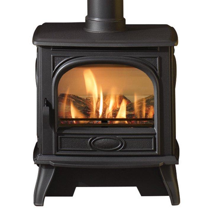 Dovre 280 Conventional Flue Gas Stove - Logs - Black