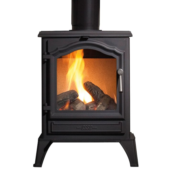 ESSE G500 Vista Conventional Flue Gas Stove - Black