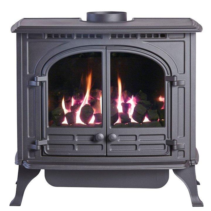 HS Gas Select 6 Conventional Flue Gas Stove Black Natural Gas Coal Effect - Black