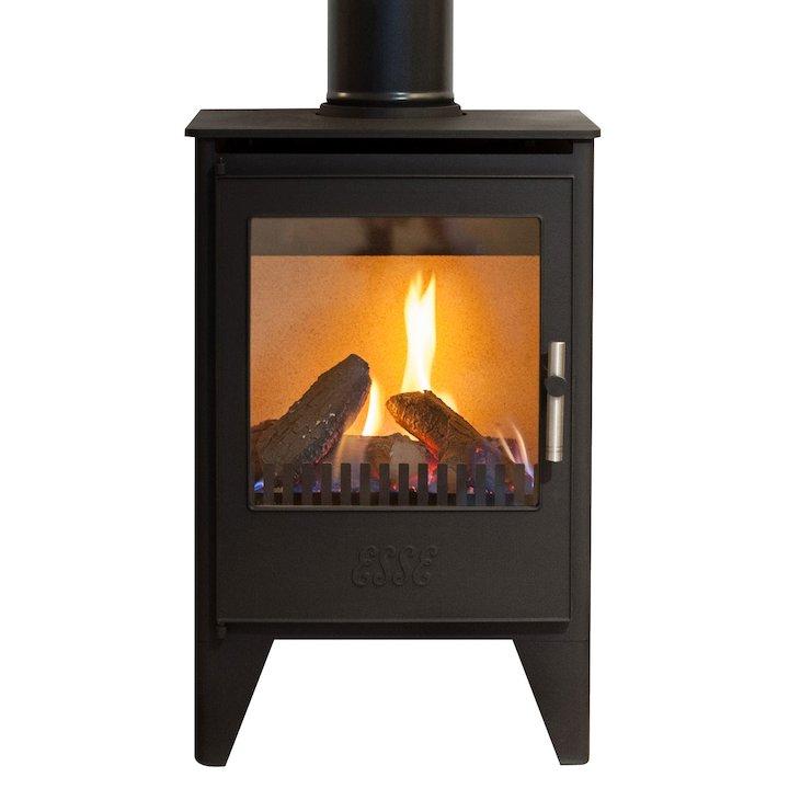 ESSE G550 Conventional Flue Gas Stove - Black