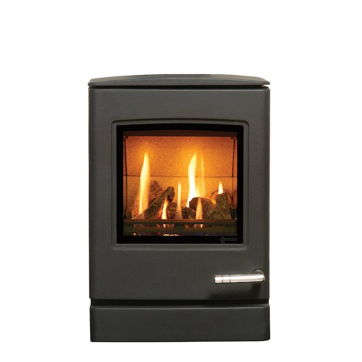 Yeoman CL3 Conventional Flue Gas Stove Anthracite LPG  Rear Flue Outlet - Anthracite