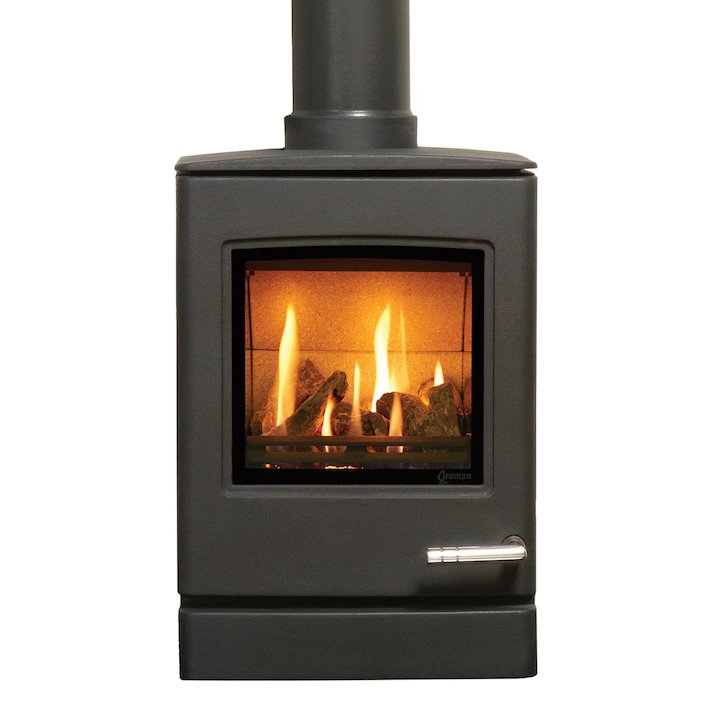 Yeoman CL3 Conventional Flue Gas Stove Anthracite Natural Gas Top Flue Outlet - Anthracite