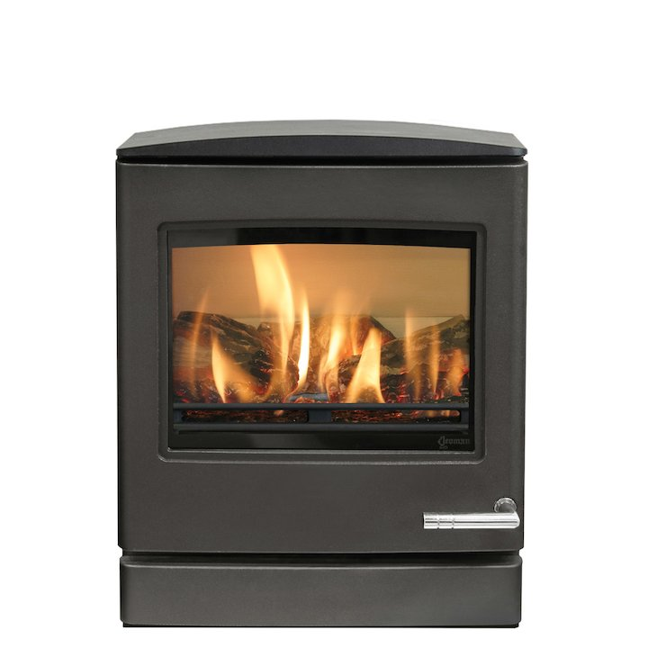 Yeoman CL5 Conventional Flue Gas Stove Anthracite LPG  Rear Flue Outlet - Anthracite