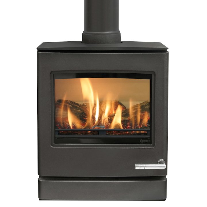 Yeoman CL5 Conventional Flue Gas Stove Anthracite Natural Gas Top Flue Outlet - Anthracite