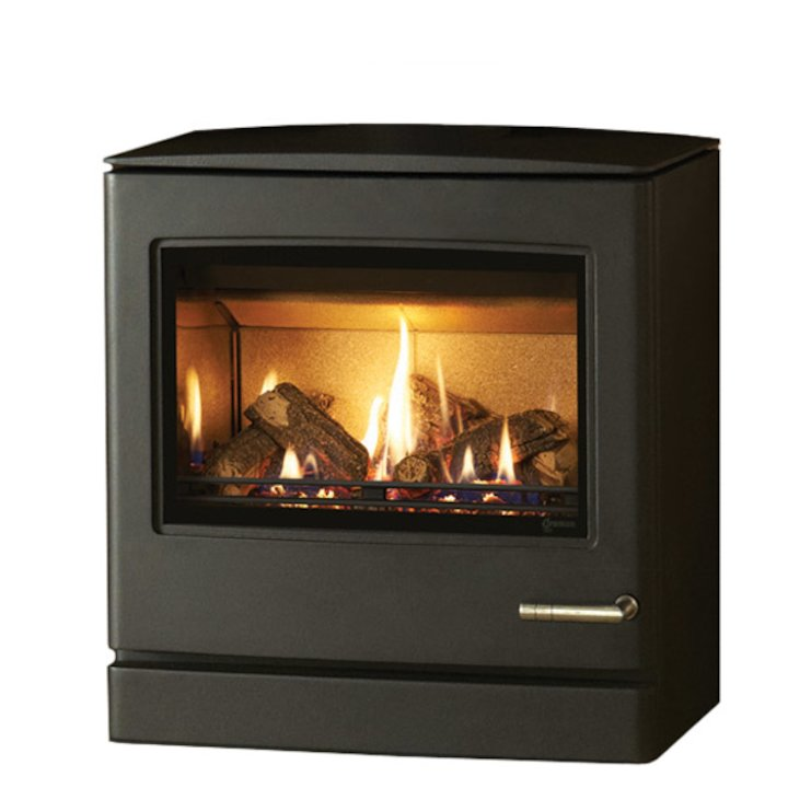 Yeoman CL8 Conventional Flue Gas Stove Anthracite Natural Gas Rear Flue Outlet - Anthracite