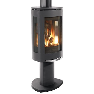 Jotul GF373 Balanced Flue Gas Stove Black Natural Gas Manual Control