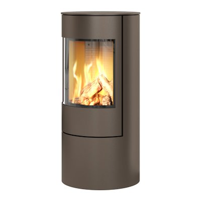 Rais Viva 100L Balanced Flue Gas Stove Mocha Metal Framed Door Solid Sides