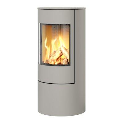 Rais Viva 100L Balanced Flue Gas Stove Nickel Metal Framed Door Solid Sides