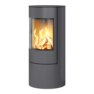 Rais Viva 100L Balanced Flue Gas Stove Platinum Metal Framed Door Solid Sides