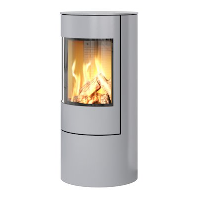 Rais Viva 100L Balanced Flue Gas Stove Silver Metal Framed Door Solid Sides