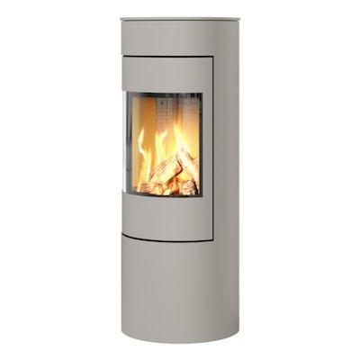 Rais Viva 120L Balanced Flue Gas Stove Nickel Metal Framed Door Solid Sides