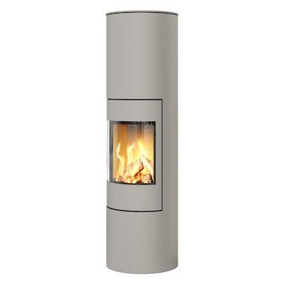 Rais Viva 160L Balanced Flue Gas Stove Nickel Metal Framed Door Solid Sides