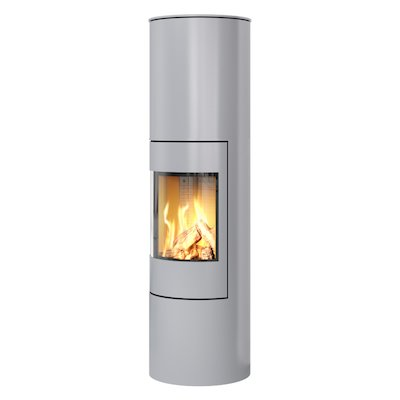 Rais Viva 160L Balanced Flue Gas Stove Silver Metal Framed Door Solid Sides