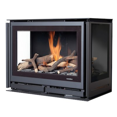 Wanders Square 60G Trilateral Wall Mounted Balanced Flue Gas Stove
