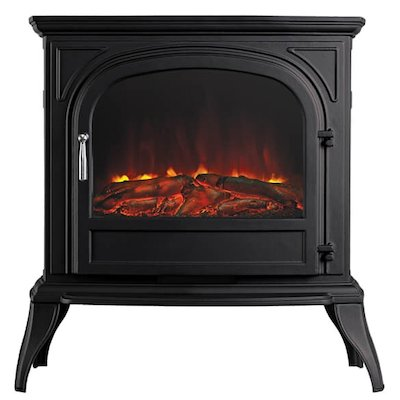 Ekofires 1250 Electric Stove Black Clear Glass Door