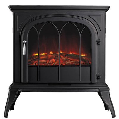 Ekofires 1250 Electric Stove Black Tracery Glass Door