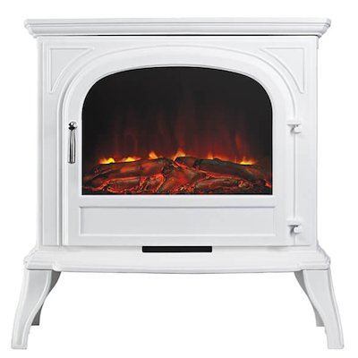 Ekofires 1250 Electric Stove White Clear Glass Door
