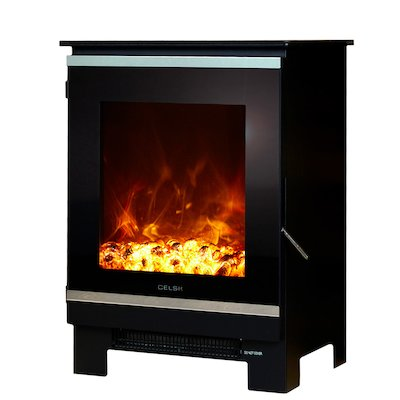 Celsi XD1 Electric Stove Black Black Glass Framed Door