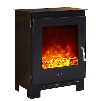 Celsi XD1 Electric Stove Black Metal Framed Door