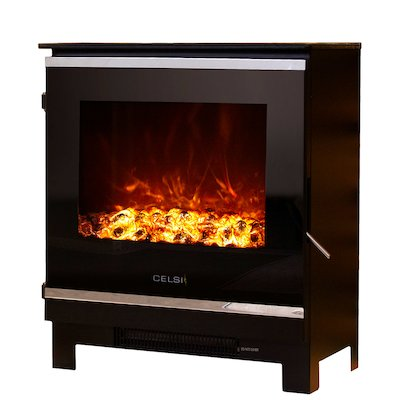 Celsi XD2 Electric Stove Black Black Glass Framed Door