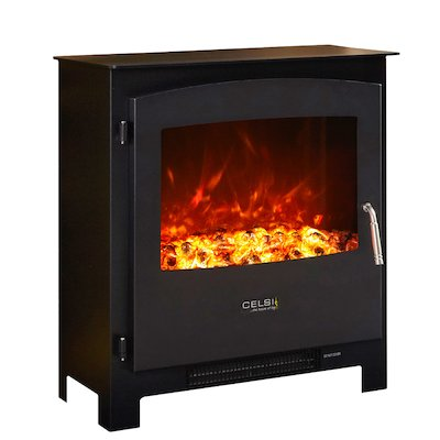 Celsi XD2 Electric Stove Black Metal Framed Door