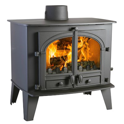Parkray Consort 15 Multifuel Boiler Stove Black Double Doors