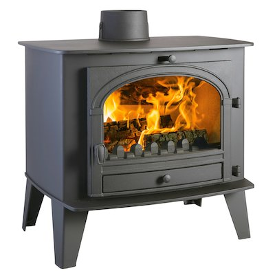 Parkray Consort 15 Multifuel Boiler Stove Black Single Door