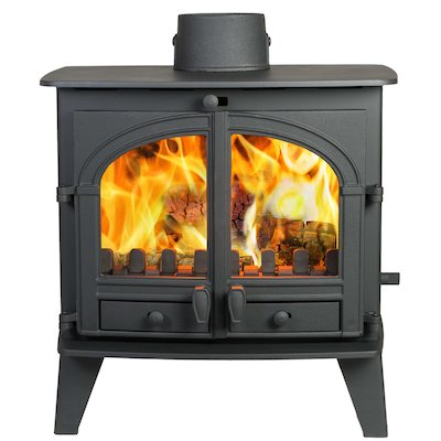 Parkray Consort 9 Multifuel Boiler Stove Black Double Doors