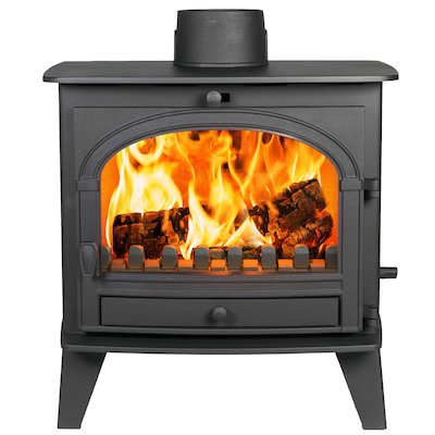 Parkray Consort 9 Multifuel Boiler Stove Black Single Door