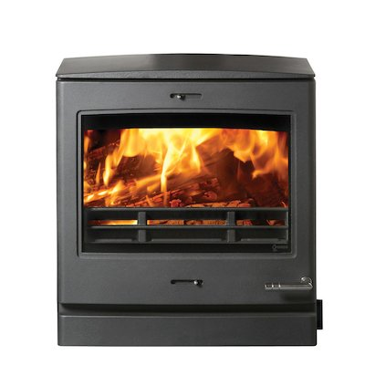 Yeoman CL8HB Multifuel Boiler Stove Black Rear Flue Outlet
