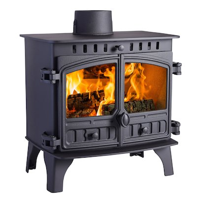 Hunter Herald 8 Wood Boiler Stove Black Double Doors