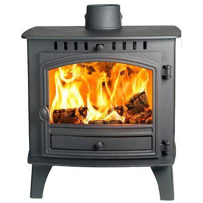 Hunter Herald 80b Wood Boiler Stove Black Single Door