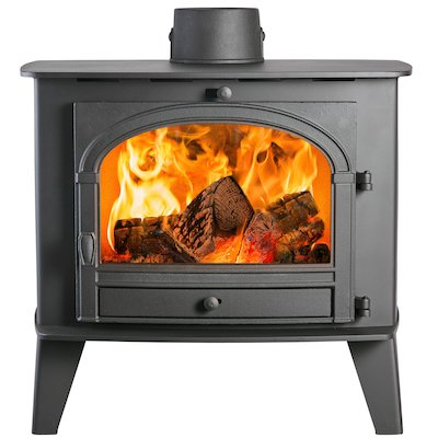 Parkray Consort 15 Wood Boiler Stove Black Single Door